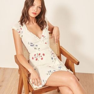 NWT Reformation Garnet Floral Wrap Dress